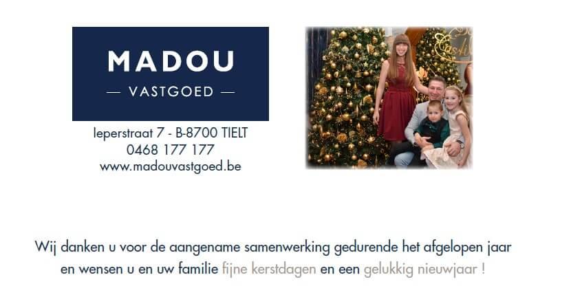 Madou Vastgoed wenst u prettige kerstdagen en een gelukkig nieuwjaar!